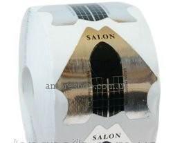 Формы для наращивания ногтей Salon Professional , серебрянные