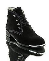 Черевики жіночі чорні, замш (2507 чн. Зш (шерсть)) Romastyle