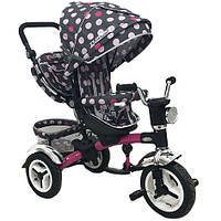Велосипед детский трехколесный Turbo Trike M 3199-6HA-D Pink Circles (M 3199)