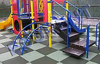 Резиновая плитка для детских игровых площадок 500*500*30мм.
