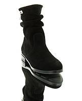 Черевики жіночі чорні, замш (2856 чн. Зш (байка)) Roma style