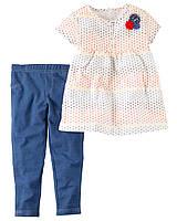 Комплект для девочки Carters в горошки Carters A40590