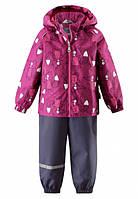 Комплект куртка и брюки на подтяжках для девочки Lassie by Reima 713702, цвет 4861
