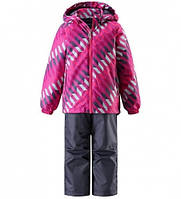 Комплект демисезонный, куртка, брюки на подтяжках для девочки Lassie by Reima  723702, цвет 4861