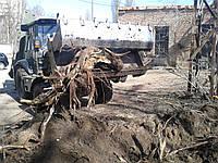 Выкорчевывание пней Удаление корней деревьев Корчевка пней деревьев.