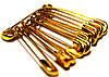 Булавки свадебные (№00/23mm/10шт) золотые