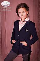 Школьный пиджак для девочки Baby Angel 689, цвет синий