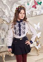 Нарядная школьная блузка Suzie Чарли, цвет белый с синим