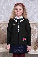 Кардиган для школы Suzie Ясмина, цвет черный с вышивкой