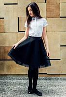 Школьная блузка с коротким рукавом Sly 123/S/17, цвет белый