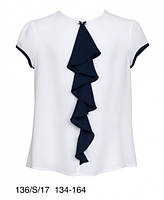 Школьная блузка с коротким рукавом Sly 136/S/17, цвет белый