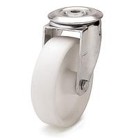 Колеса полиамидные из полиамида-6 диаметр 80 мм с поворотным кронштейном с отверстием. Серия 30