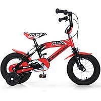 """Детский Велосипед Kawasaki MX 12"""" - Injusa Испания - надувные колеса, регулировка руля и сидения"""