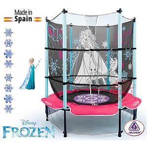 Детский Батут Frozen Холодное Сердце 1,4 м - Injusa Испания - c защитной сеткой