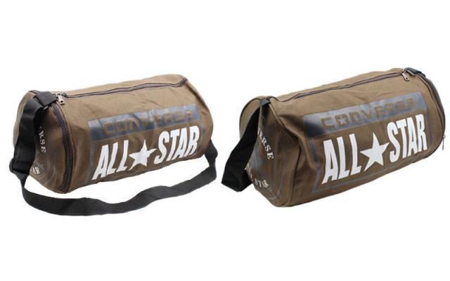1fe9be008e3d Спортивная сумка-бочонок CONVERSE с отделом для обуви 4973-BR кофе, фото 1