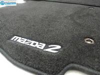 Mazda 2 2011-14 коврики в салон велюровые черные передние задние Новые Оригинальные