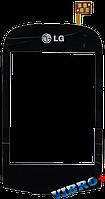 Тачскрин (сенсор) LG T500, T505, T510, T515 ORIG, black (черный)