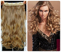 Волосы на заколках затылочная прядь волна №27/613 длина 50см