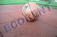 Резиновая плитка для открытых спортивных площадок 500*500*30мм,