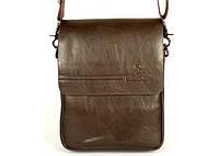Мужская сумка барсетка на плечо Bradford 98337-1 маленькая пять отделов искусственная кожа размер 16х21х7см, фото 1