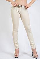 Женские котоновые брюки летние тонкие светлые ADORATI 4442 Турция, фото 1