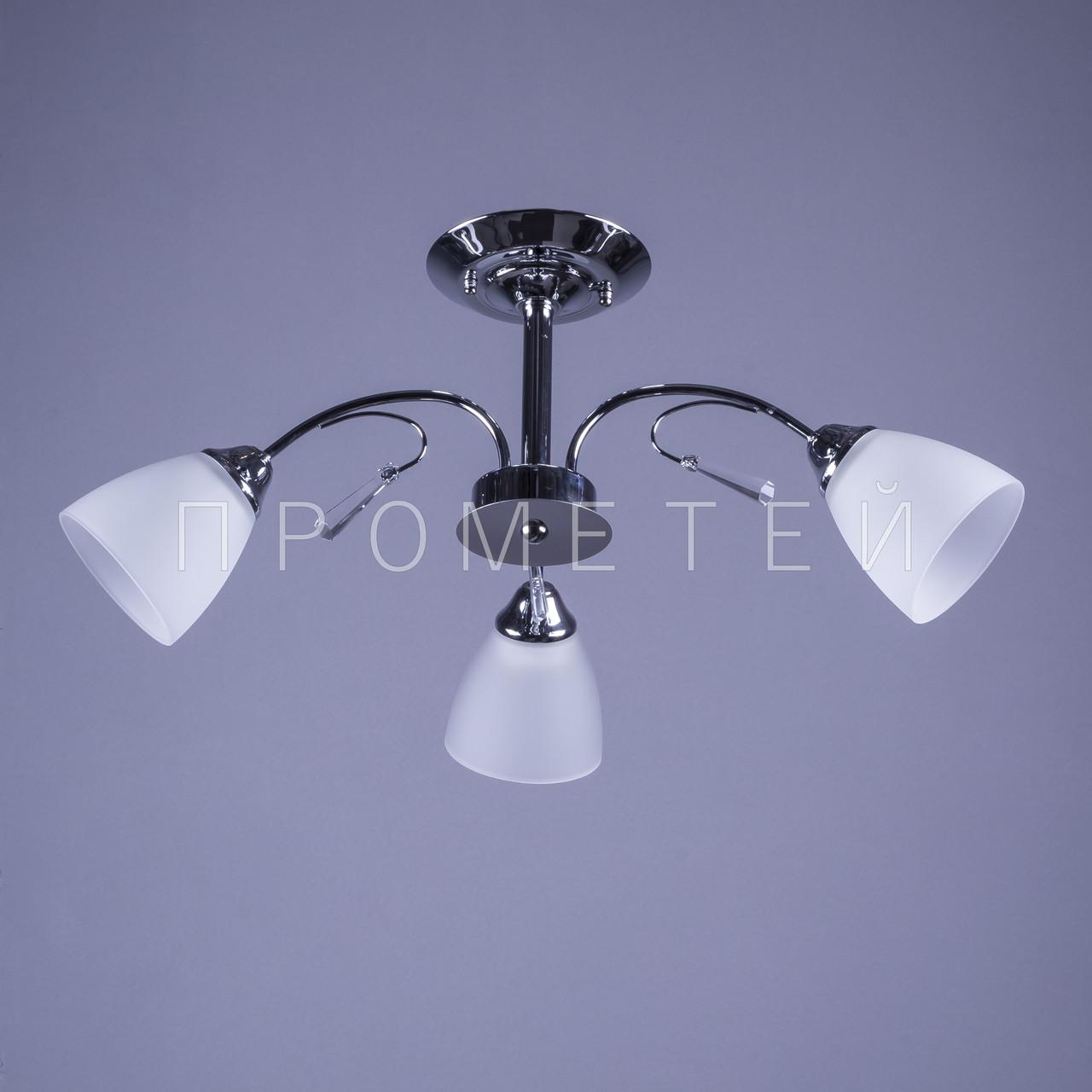 Люстра на 3 лампочки (хром) P3-91534/3/CR+WT