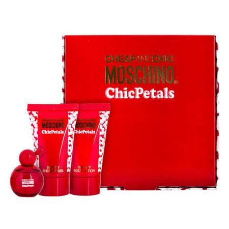 Набор Moschino Cheap And Chic Chic Petals (туалетная вода 4,9 мл+гель д/душу 25 мл+лосьон д/тела 25мл)