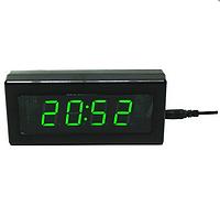 Электронные настольные часы Caixing CX 919 (green, blue) Распродажа