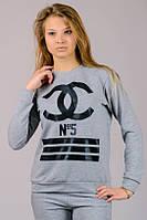 """Свитшот  """"Chanel №5"""" (меланж)"""