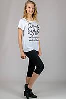 "Женская  футболка ""Реглан"" (белый) Denim Style"