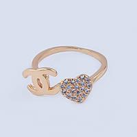 Кольцо на фалангу пальца в стиле Chanel