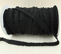 Резинка-рюш 13 мм, черный