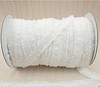 Резинка-рюш 13 мм, белый