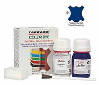 Краситель для гладкой кожи и текстиля + очиститель Tarrago Color Dye, 2*25 мл,  цв. темно сиреневый (124)