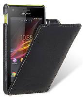 Кожаный чехол Melkco для Sony Xperia M C1905 C2005 черный, фото 1
