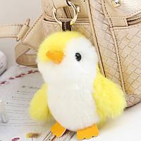 Меховый брелок пингвинчик. цвета в ассортименте