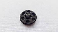 Кнопка  пластмас.  15 мм  черная