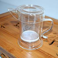 Стеклянный заварочный чайник с колбой на 260 мл.
