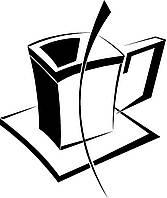 Виниловая интерьерная наклейка - Квадратная чашка