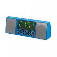 Портативная колонка MP3 часы WS-1515 bluetooth Blue