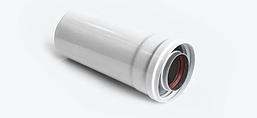 Коаксиальная труба универсальная удлинитель 0.5м. для газового котла 60/100
