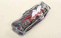 Сетка для волейбола узловая с тросом (р-р 9,5x1м, ячейка 11x11см) C-4890