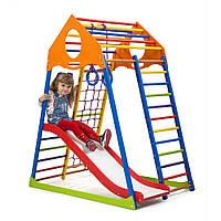 Детский спортивный комплекс ТМ SportBaby: KindWood Color Plus 1 (Украина)