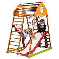 Детский спортивный комплекс для дома ТМ SportBaby: KindWood Plus 1 (Украина)