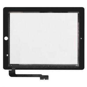 Тачскрин сенсор iPad 3 (A1403, A1416, A1430), iPad 4 (A1458, A1459, A1460) черный, полный комплект (HQ)