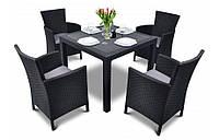 Комплект садовой мебели IOWA / Melody Quartet 4+1, 4 цвета