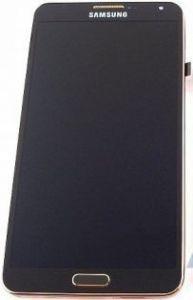 Дисплей с тачскрином Samsung N9005 Note 3 черный с золотой рамкой (GH97-15209F) (Ori)