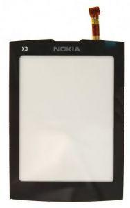 Тачскрин сенсор Nokia X3-02 черный (HQ)