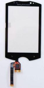 Тачскрин сенсор Sony Ericsson WT19 черный с маленькой микросхемой