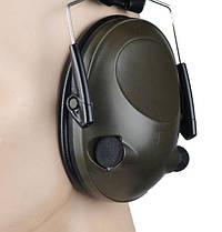 M-Tac наушники стрелковые активные Tactical 6S Olive, фото 2